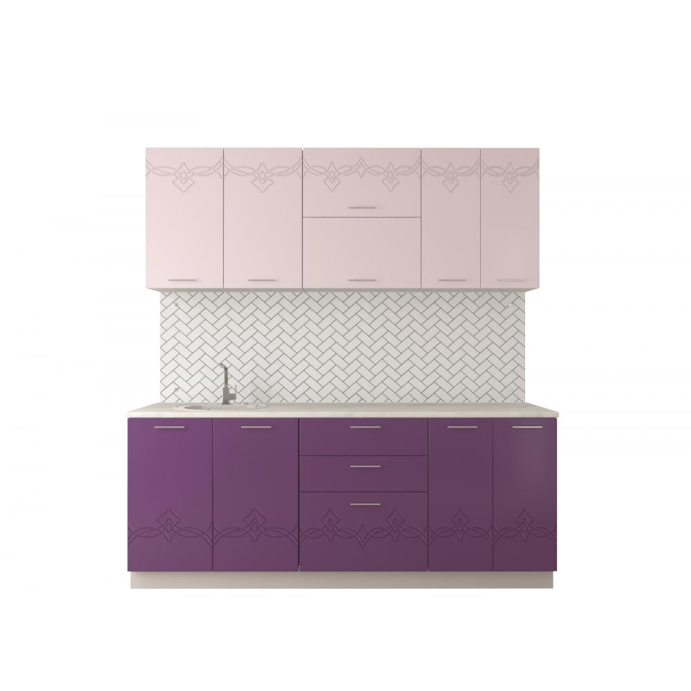 Адель | МДФ | Розовый металлик – сирень металлик 1,4м-2,6м
