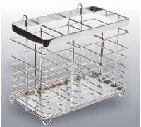 Корзина на релинг для столовых приборов хром CWJ301D