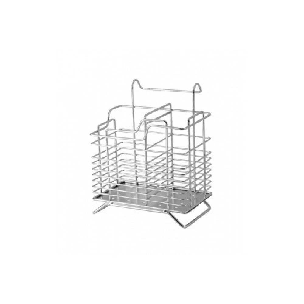 Корзина на релинг для столовых приборов хром CWJ301
