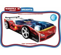 Кровать-машинка Формула 3Д красная
