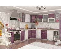Кухня София ОЛИВА белый/ сирень (модульная)
