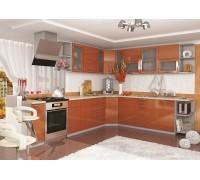 Кухня София ОЛИВА оранж (модульная)