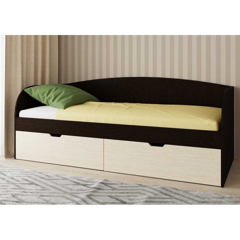 Кровать кровать односпальная СН- 120.01 с ящиками