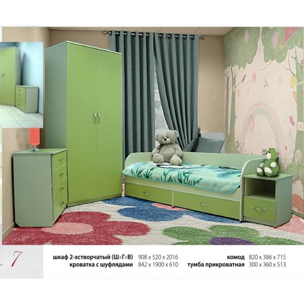 """Набор для детской комнаты """"Любавушка""""  ( кровать с шуфлядами)"""
