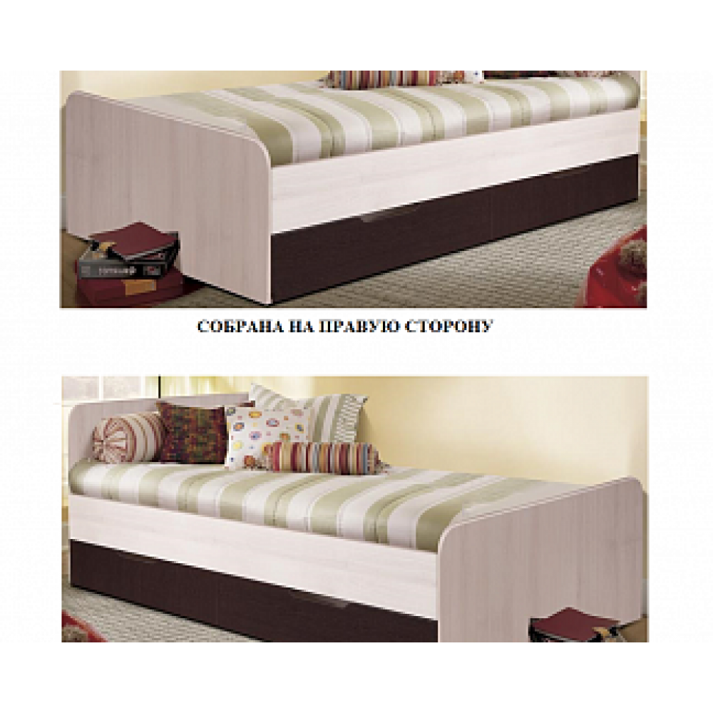Кровать «Лира-1» c выкатными ящиками 1942х862х650