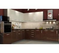 Кухня Виста (ваниль глянец/шоколад глянец)