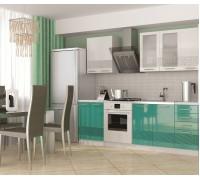 Кухня Олива 3D ( Белый/ бирюза) 1,8 м