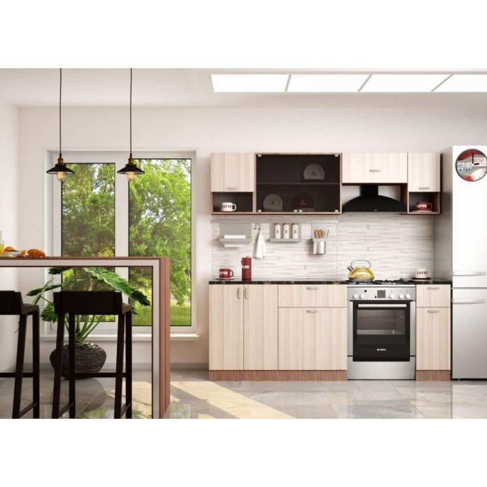 """Кухня """"Зара"""" 2.1 м ясень шимо светлый с газовкой 60 см"""