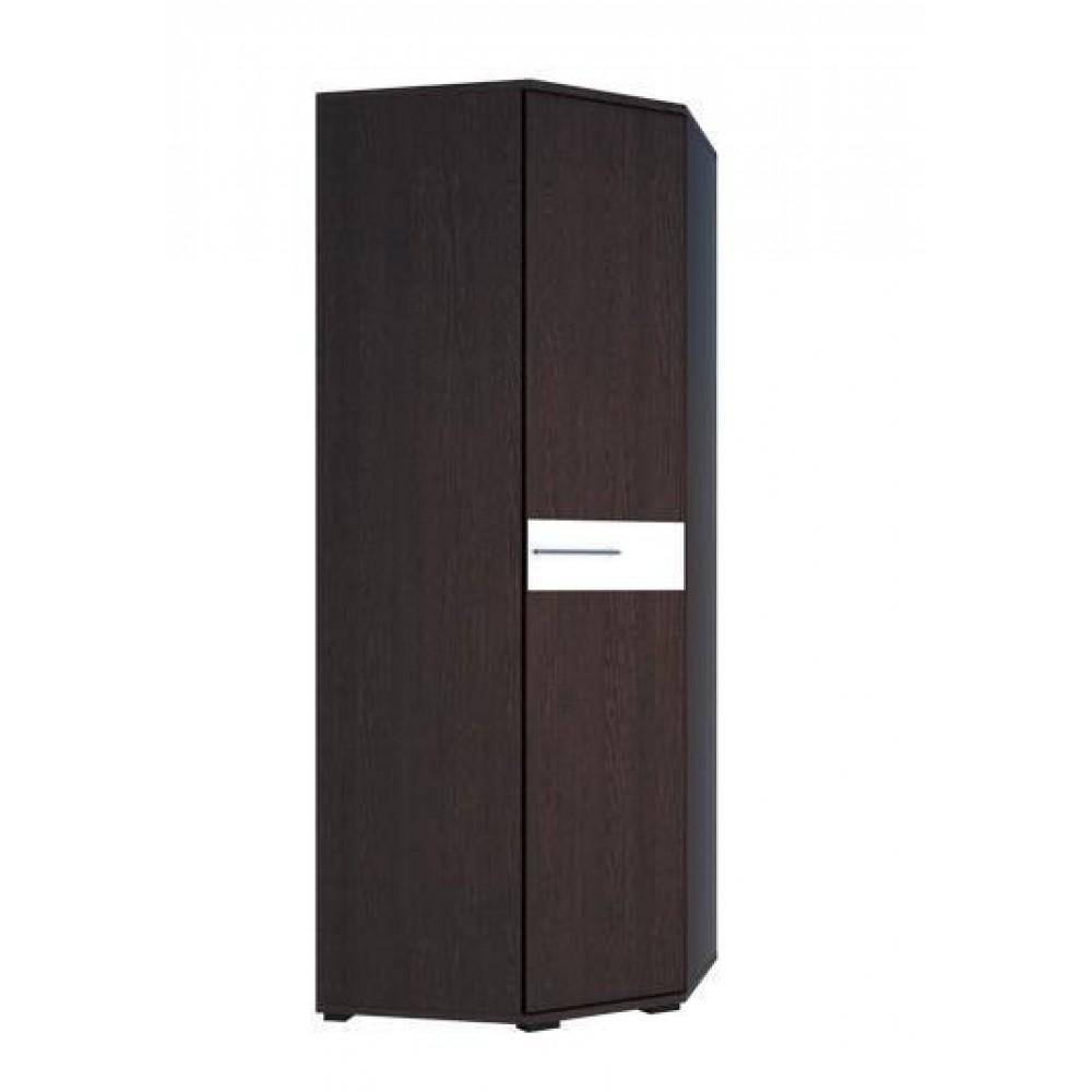 Шкаф угловой Луиза - венге/белый глянец